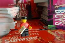 Lego mailman delivering postcards. ...  Kawaaaaiiii!